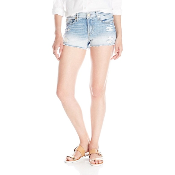 7 For All Mankind Pants - 7FAM Distressed Destroyed Denim Cut Off Shorts